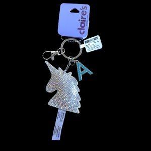 4/$20 Personalized Rhinestone Unicorn Key Chain